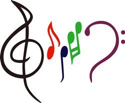 Abstract Music Logo print art