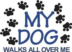 Dog Walks Paws print art