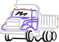Abstract Dump Truck print art