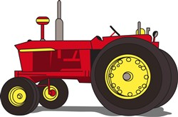 Classic tractor print art