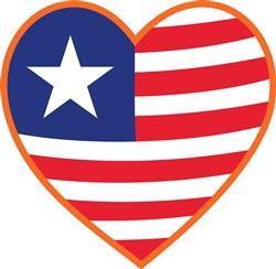 Flag Heart print art
