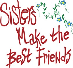 Sisters Best Friends print art