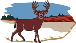 Deer Scene print art