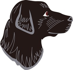 Black Lab Head print art