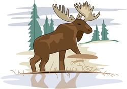 Moose Scene print art