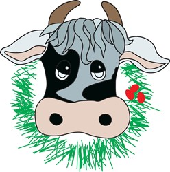 Christmas Cow print art