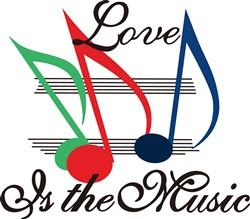 Love is the Music print art