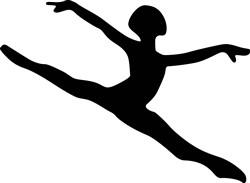 Dancer Silhouette print art