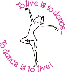 To Dance is to Live print art