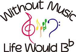 Without Music print art