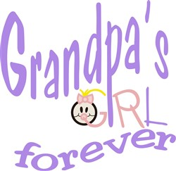 Grandpas Girl Forever print art