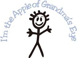 Im the Apple of Grandmas Eye print art