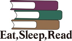 Eat Sleep Read print art