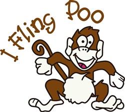 I Fling Poo print art