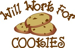 Will Work for Cookies print art