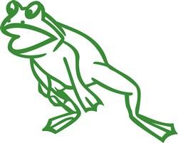 Leaping Frog Outline print art