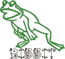 Ribbit Frog print art