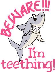 Teething Shark Beware print art