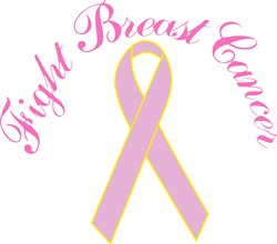 Fight Breast Cancer print art