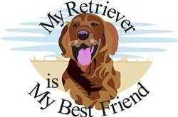 Best Friend Retriever print art