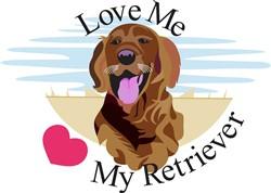 Love Me Retriever print art