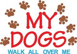 My Dogs Walk print art