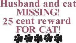 25 Cent Reward for Cat print art