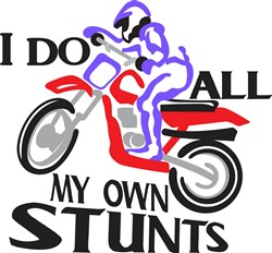 I Do Stunts print art