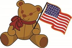 Teddy Flag print art