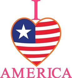 I Love America print art