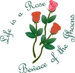Life is a Rose print art