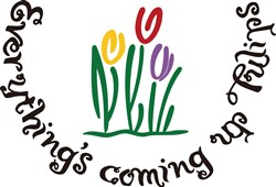 Everythings Coming Up Tulips print art