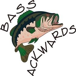 Bass Ackwards print art