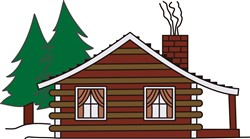 Log Cabin print art