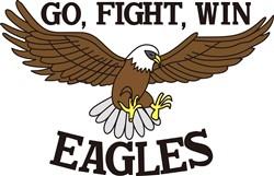 Go, Fight, Win Eagles print art