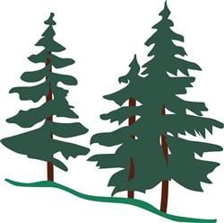 Evergreen Trees print art