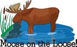 Moose on The Loose print art