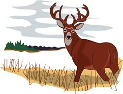 Whitetail Deer Scene print art
