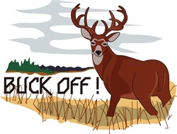Buck Off! print art