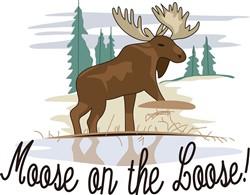 Moose on the Loose! print art