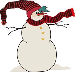 Snowman print art