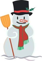 Applique Snowman print art