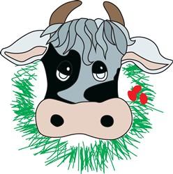 Christmas Cow print art