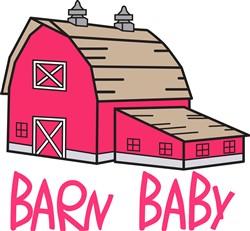 Barn Baby print art