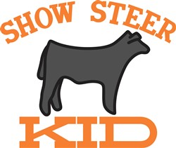 Show Steer Kid print art
