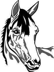 Horse head print art