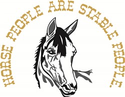 Stable People print art