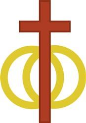 Christian Marriage Symbol print art