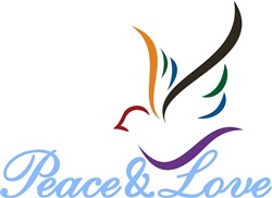 Peace & Love print art