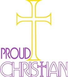 Proud Christian print art